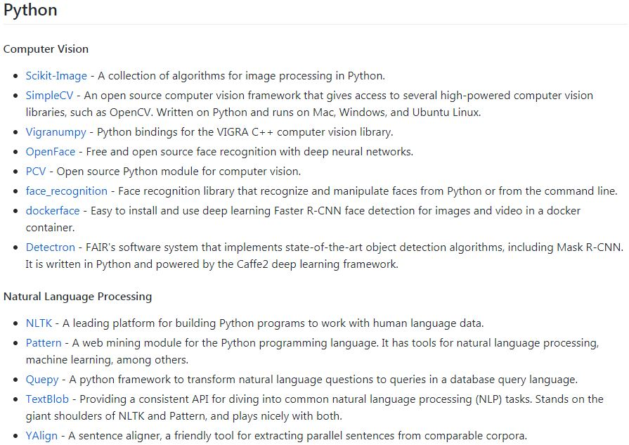 awesome ML python