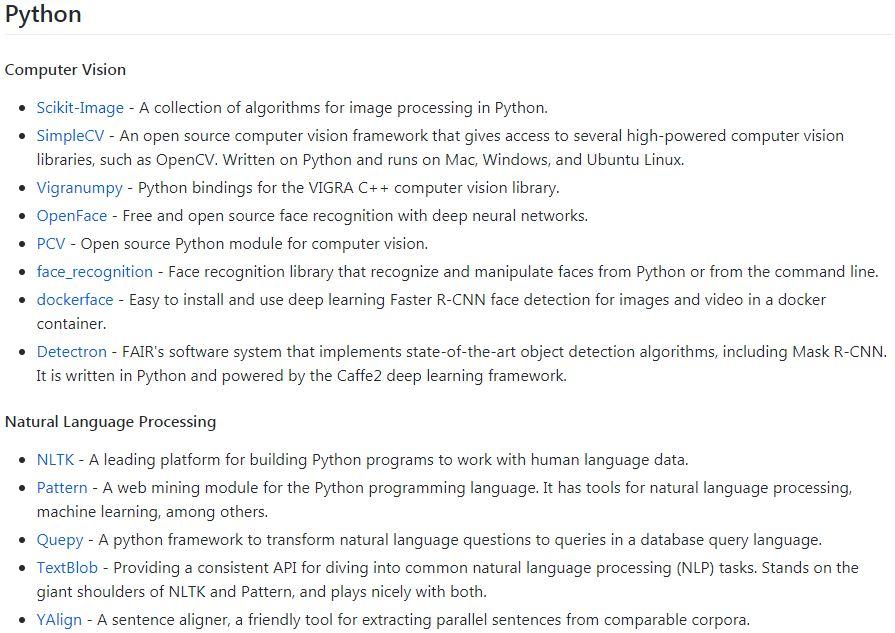 awesome ML python