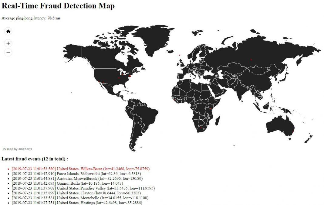 Carte en temps réel de fraude